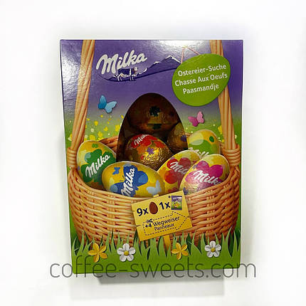 Великодні шоколадні яйця Milka 162г, фото 2