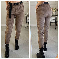 Жіночі вельветові брюки прямі норма і батал новинка 2021
