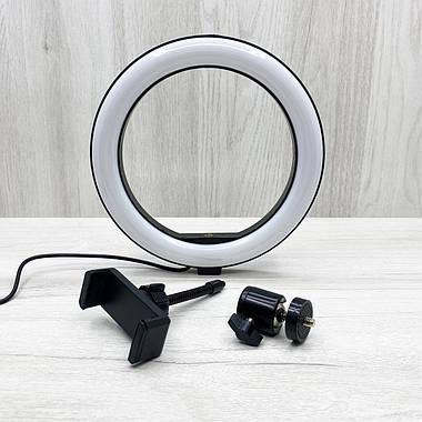 Многофункциональная кольцевая LED лампа RGB SOFT RING LIGHT MJ260 26см + штатив 2.1 м, фото 3