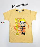 Подростковая трикотажная футболка для мальчика Naputo размер 8-12 лет, цвет уточняйте при заказе, фото 1