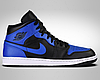 Оригінальні чоловічі кросівки Air Jordan 1 Mid (554724-077)