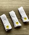 Детские демисезонные колготки KBS хлопок для девочек белого цвета с выпуклым узором, фото 4
