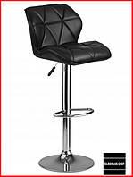 Барный стул Sofotel Castel (черный) Стул-хокер Кожаный Барное кресло для Бара Кафе Ресторана Для кухни