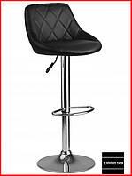 Барный стул Sofotel Nerra (черный) Стул-хокер Кожаный Барное кресло для Бара Кафе Ресторана Для кухни