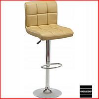 Барный стул Sofotel Monro (бежевый) Стул-хокер Кожаный Барное кресло для Бара Кафе Ресторана Для кухни