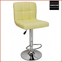 Барный стул Bonro B-628 (бежевый) Стул-хокер Кожаный Барное кресло для Бара Кафе Ресторана Для кухни