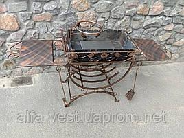 Мангал кований стаціонарний 3мм на 12 шт шампурів