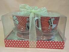 """Набор чайный """"Кошки""""   в подарочной коробке (2 чашки и 2 блюдца), фото 3"""