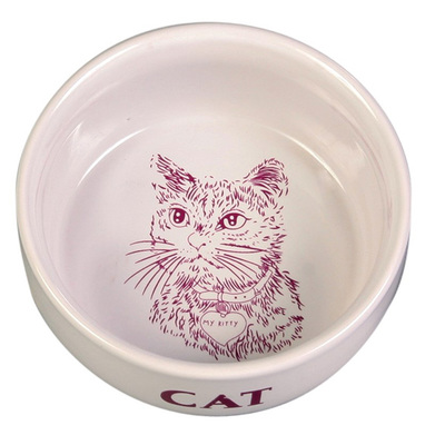 Миска керамическая для кошек 0,3л/11см, Trixie TX-4010