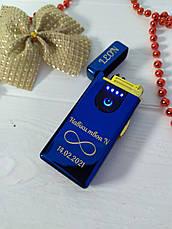 """Электроимпульсная usb зажигалка """"Свеча"""" с вашей гравировкой! Двухрежимная Электро + Газ, фото 3"""