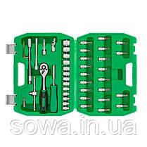 """Набор инструментов 46шт, 1/4"""" INTERTOOL ET-6046SP, фото 3"""