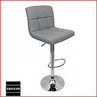 Барный стул Bonro B-628 (серый) Стул-хокер Кожаный Барное кресло для Бара Кафе Ресторана Для кухни