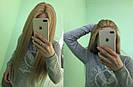 Система волос на сетке с имитацией кожи головы, длинный русый волос, фото 3