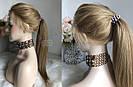 Система волос на сетке с имитацией кожи головы, длинный русый волос, фото 6
