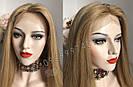 Система волос на сетке с имитацией кожи головы, длинный русый волос, фото 7