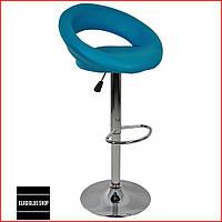 Барный стул Bonro B-650 (синий) Стул-хокер Кожаный Барное кресло для Бара Кафе Ресторана Для кухни