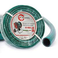 """Шланг для поливу 3-х шаровий 3/4"""", 20м, армований PVC INTERTOOL GE-4043"""