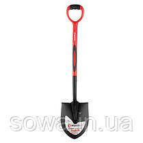 Лопата штыковая, ручка из фибергласса, 217х290х1050 мм INTERTOOL FT-2013, фото 3