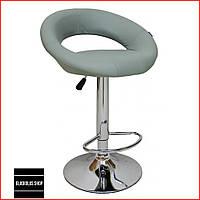 Барный стул Bonro B-650 (серый) Стул-хокер Кожаный Барное кресло для Бара Кафе Ресторана Для кухни