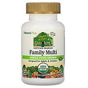 Органические Мультивитамины для Всей Семьи, Вкус Ягод, Source of Life Garden, Natures Plus, 60 жевательных
