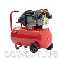 Компрессор 50 л, 3 кВт, 220 В, 8 атм, 420 л/мин, 2 цилиндра. INTERTOOL PT-0007, фото 3