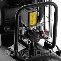 Компрессор 100 л, 3 кВт, 220 В, 8 атм, 500 л/мин, 2 цилиндра INTERTOOL PT-0014, фото 3