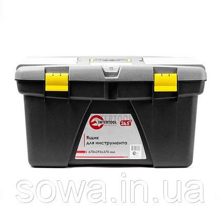 "Ящик для инструмента 26.5"" 670*393*370мм INTERTOOL BX-0326, фото 2"