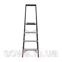 Стремянка 4 ступени, лоток для инвентаря, стальной профиль, высота верхней ступени 850мм, 433х821х1350мм,, фото 3