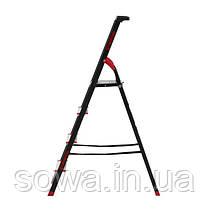 Стремянка 4 ступени, лоток для инвентаря, стальной профиль, высота верхней ступени 850мм, 433х821х1350мм,, фото 2