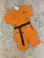 Підлітковий костюм для дівчинки подовжена футболка+велосипедки Love 10-14 років, колір уточнюйте при замовленні, фото 1