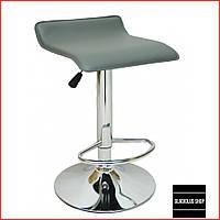 Барный стул Bonro B-688 (серый) Стул-хокер Кожаный Барное кресло для Бара Кафе Ресторана Для кухни