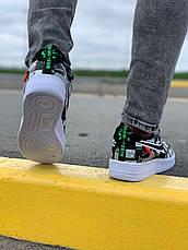 Жіночі кросівки Nike Air Force World Black White ALL02376, фото 3