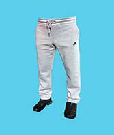 Брюки спортивные Adidas трикотажные,зимние.Светло-серые.24155