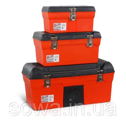 Комплект ящиков для инструментов с металлическим замком INTERTOOL BX-0007, фото 2
