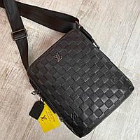 Чоловіча шкіряна сумка через плече Louis Vuitton, фото 1