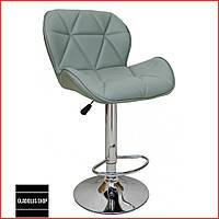 Барный стул Bonro B-868M (серый) Стул-хокер Кожаный Барное кресло для Бара Кафе Ресторана Для кухни