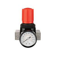 """Регулятор давления 1/4"""", 1-16 бар, 1600 л/мин, профессиональный INTERTOOL PT-1429"""