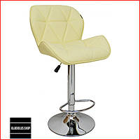 Барный стул Bonro B-868M (бежевый) Стул-хокер Кожаный Барное кресло для Бара Кафе Ресторана Для кухни