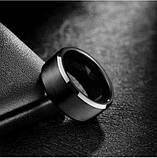 Черные кольца женские 8 мм. Размеры: 18-24. Женское кольцо на большой палец из медицинской стали, фото 2