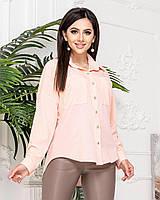 Стильная женская рубашка, А012 пудра