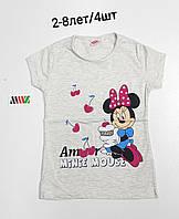 Детская трикотажная футболка для девочки Микки размер 2-8 лет, цвет уточняйте при заказе, фото 1