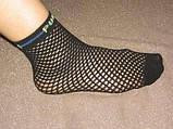 Носки женские капроновые сетка Bross черные, фото 3