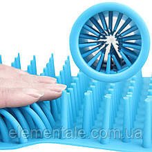 Лапомойка для собак Soft Gentle стакан для миття лап тварин 11 см Blue