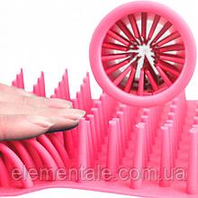 Лапомойка для собак Soft Gentle стакан для миття лап тварин 11 см Pink