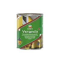 Фасадная краска для дерева Eskaro Veranda белый полуматовый 0.95л