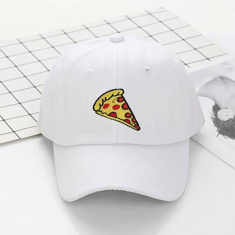 Кепка Бейсболка Чоловіча Жіноча City-A з Піцою Pizza Біла, фото 2