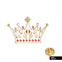 Значок металевий Пін Pin City-A Аліса в країні чудес Корона біла №882