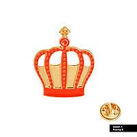 Значок металевий Пін Pin City-A Аліса в країні чудес червона Корона №883