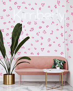 Интерьерная декоративная виниловая наклейка Одноцветные пятна леопарда