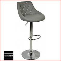 Барный стул Bonro B-801С (серый) Стул-хокер Кожаный Барное кресло для Бара Кафе Ресторана Для кухни